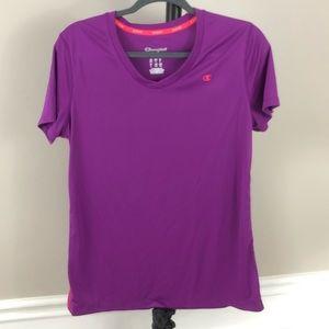 Champion Powertrain T-shirt womens size L Dry Fit
